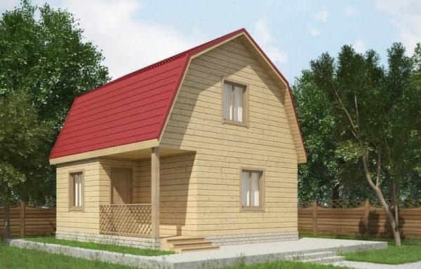 Дом 100 6 × 6